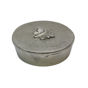 Silver Box with Bee Design