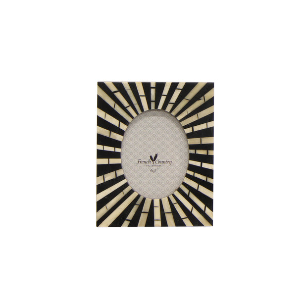 Zebra Bone Inlay Oval Photo Frame - 4' x 3'