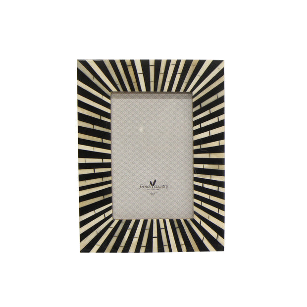Zebra Bone Inlay Rectangle Photo Frame - 4' x 6'