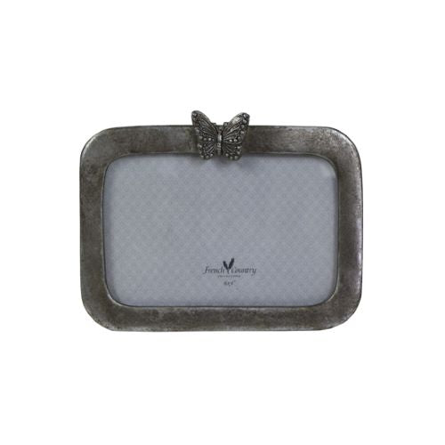 Horizontal Butterfly Photoframe - Antique Silver