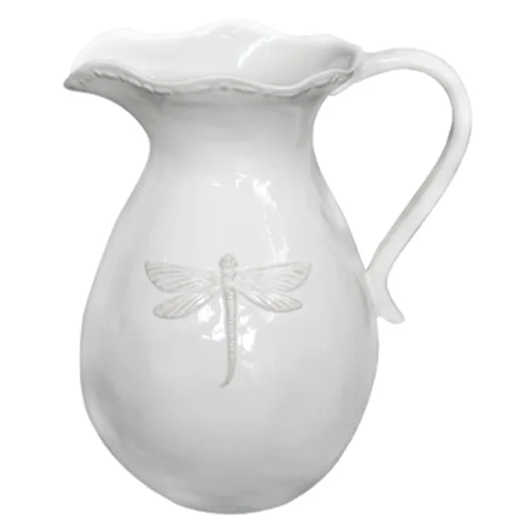 Dragonfly Ceramic Pitcher - Small