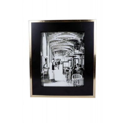 Gold & Black Photo Frame 8x10'