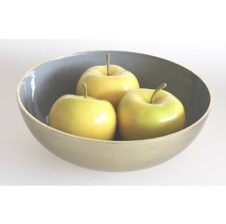 Gold and Grey Fruit Bowl