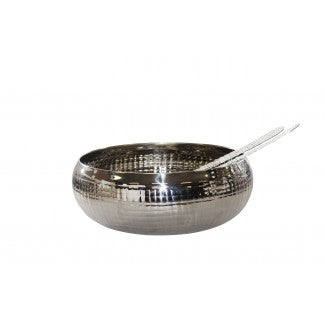 Stainless Steel Grid Pattern Salad Bowl 28cm