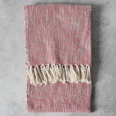 Surat Fringed Throw - Blush - 130 x 170cm