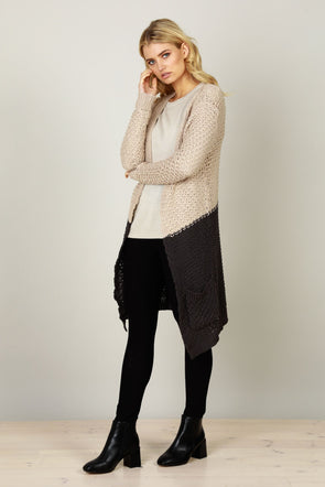 Greta Knit Jacket - Charcoal by Brave & True