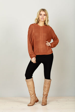 Unwind Jumper - Terracotta by Brave & True