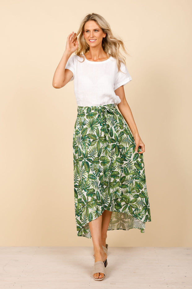 Holiday Rialto Wrap Skirt - Havana