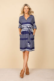 Holiday Antigua Dress - Sandy Bay Stripe