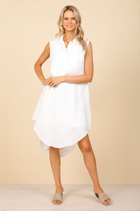 Holiday Ahoy Tunic - White Linen