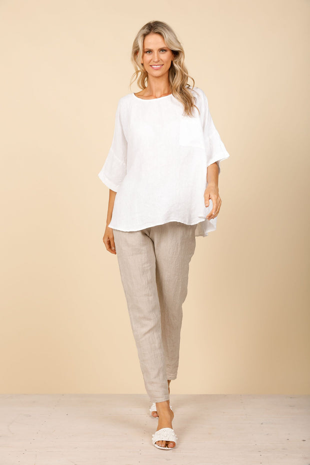 Holiday Gordo Top - Natural Linen