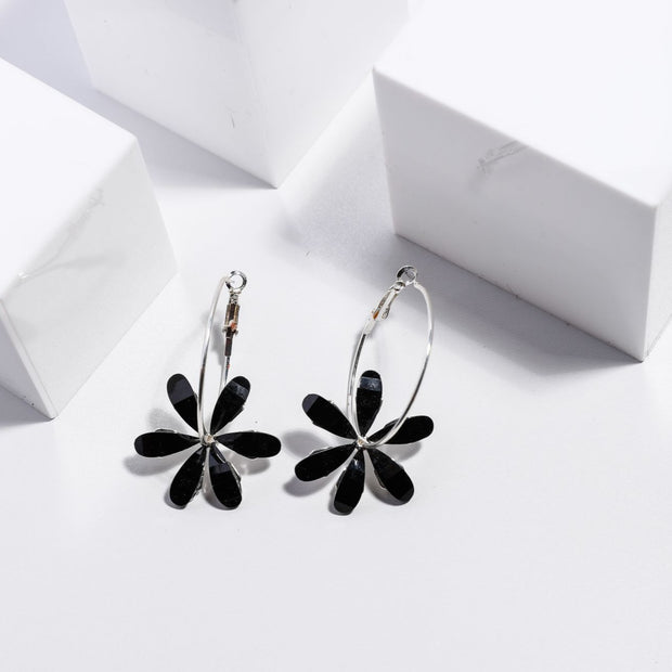 Blooming Earrings - Black