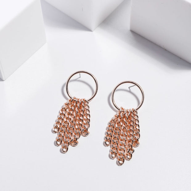 Disco Earrings - Rose Gold