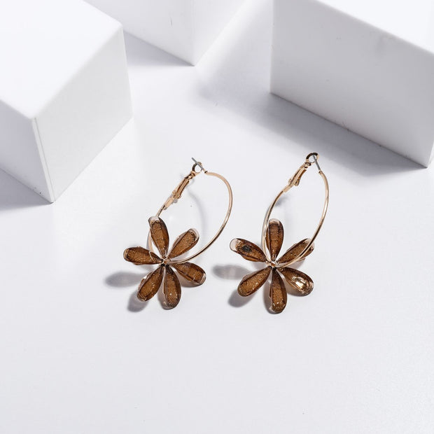 Blooming Earrings - Amber