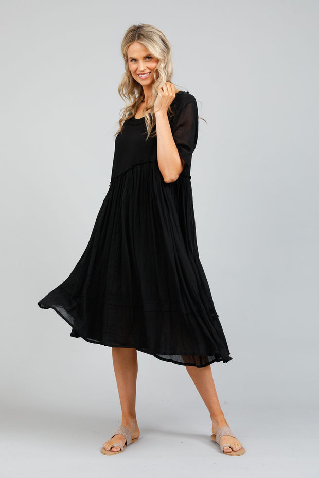 Holiday Aruba Dress - Black Voile