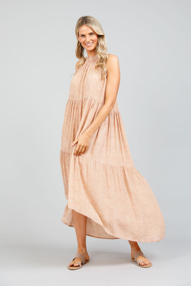Holiday Margot Dress - Bisque Seaside