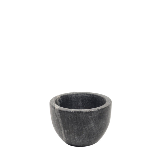 Black Marble Pinch Pot with Gold Spoon