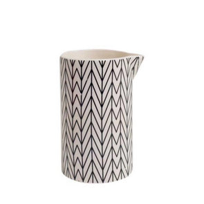 Chevron Black & White Ceramic Pitcher