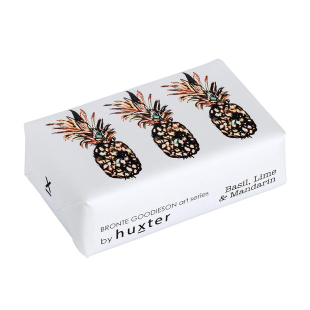 'Pineapples' Design Fragranced Wrapped Soap by Huxter