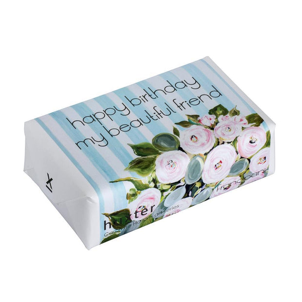 Happy Birthday My Beautiful Friend Wrapped Fragranced Soap by Huxter