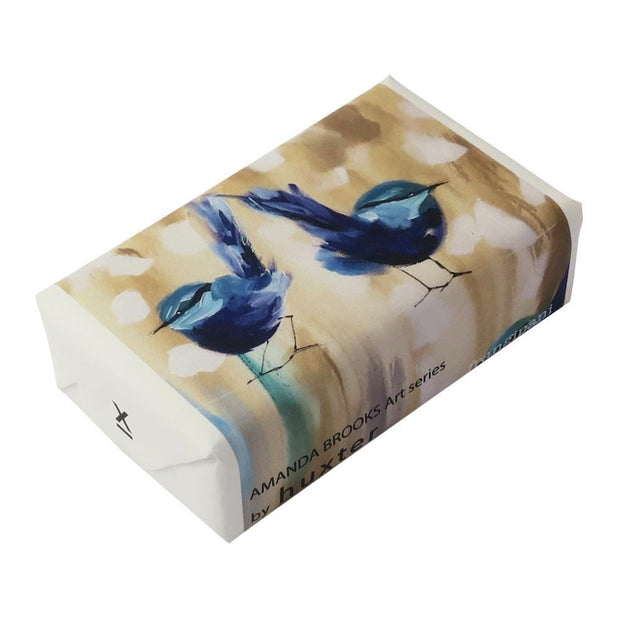 Huxter Petite Blue Wren Wrapped Fragranced Soap