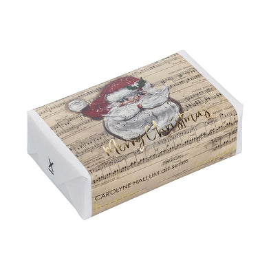 Huxter Musical Santa Gold Foil Wrapped Fragranced Soap