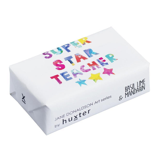 Huxter Super Star Teacher Wrapped Fragranced Soap