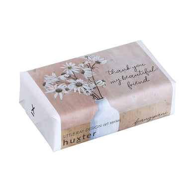 Huxter Flannel Flower - Thank You My Beautiful Friend - Wrapped Fragranced Soap