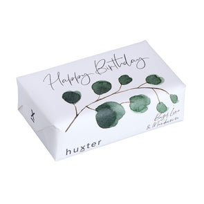 Green Leaves - Happy Birthday - Wrapped Fragranced Soap