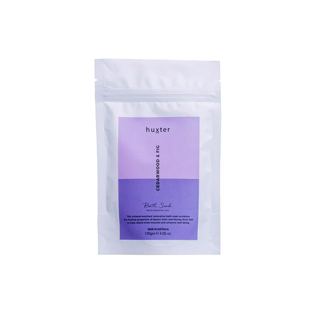 Huxter Bath Soak 120g - Cedarwood & Fig