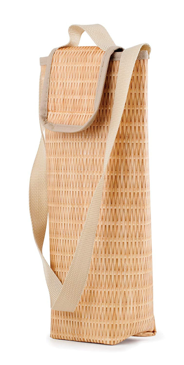 Kikkerland Faux Wicker Wine Cooler