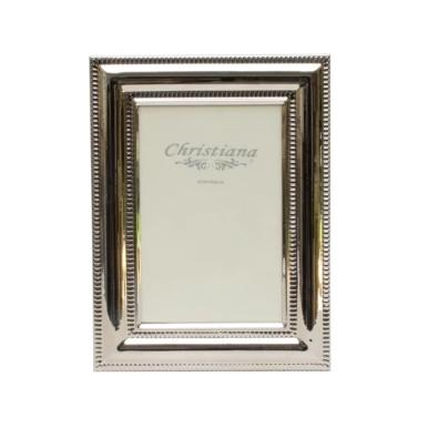 Silver Beaded Photo Frame
