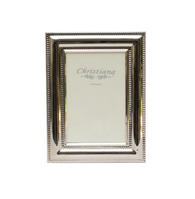 Silver Beaded Picture Frame 13cm x 18cm