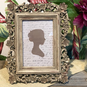 Floral Cream Photo Frame 10cmx15cm