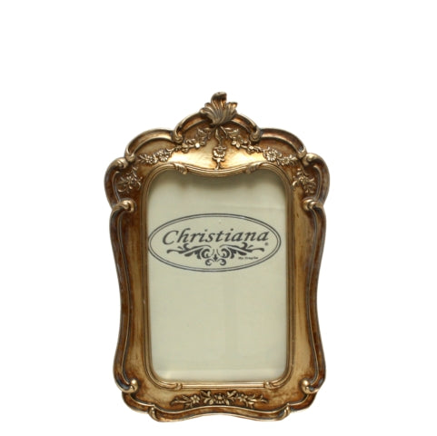 Classic Gold Crown Photo Frame