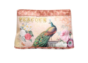 Large Cosmetic Pouch - Peacock