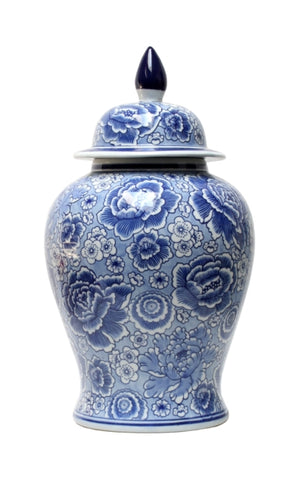 Blue & White Floral Temple 45cm
