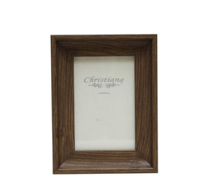 Brown Wood Picture Frame 13cm x 18cm
