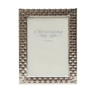 Silver Pleated Photo Frame