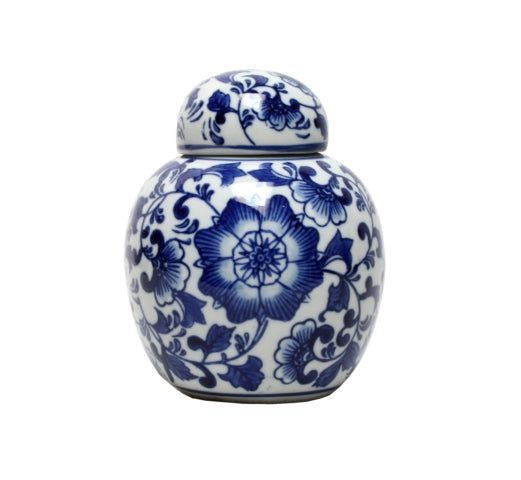 Blue & White Botanic Ginger Jar