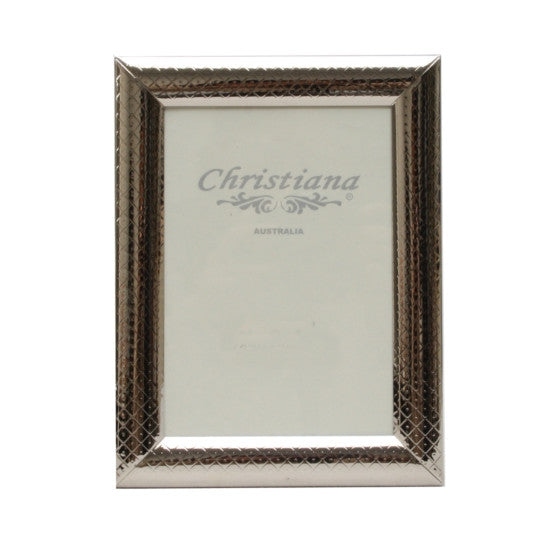 Silver Diamond Pattern Photo Frame