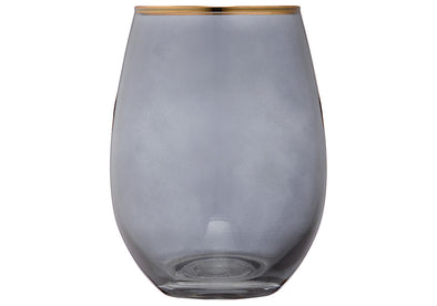 Navy & Gold Glass Tumbler