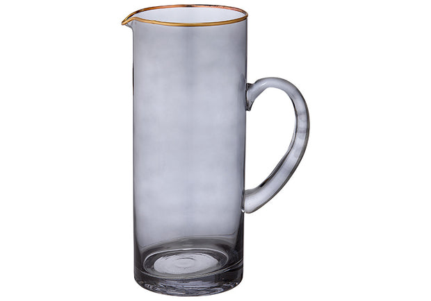 Navy & Gold Glass Jug