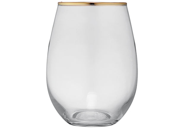 Clear & Gold Glass Tumbler