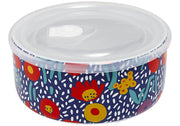 Ladelle Villa Floral Blue Microwave Food Bowl
