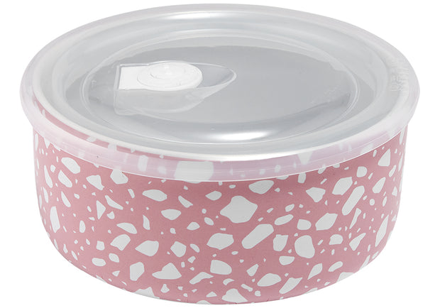Abode Pink Terrazzo Microwave Food Bowl