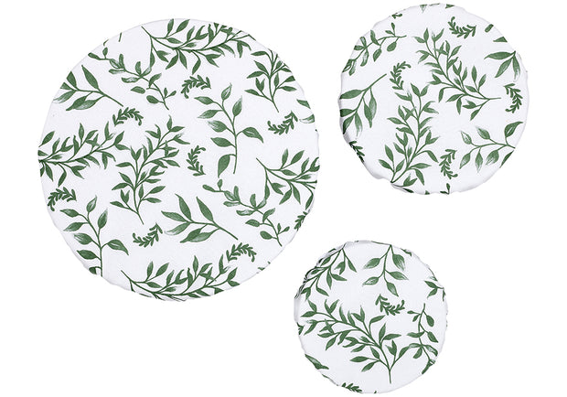 Ladelle Grown Ivy 3pk Stretch Bowl Covers