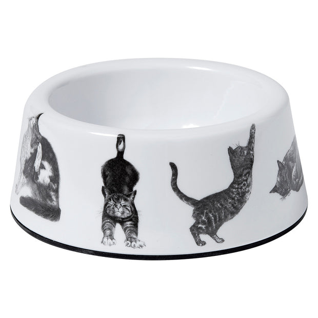 Casual Cats Small Pet Bowl