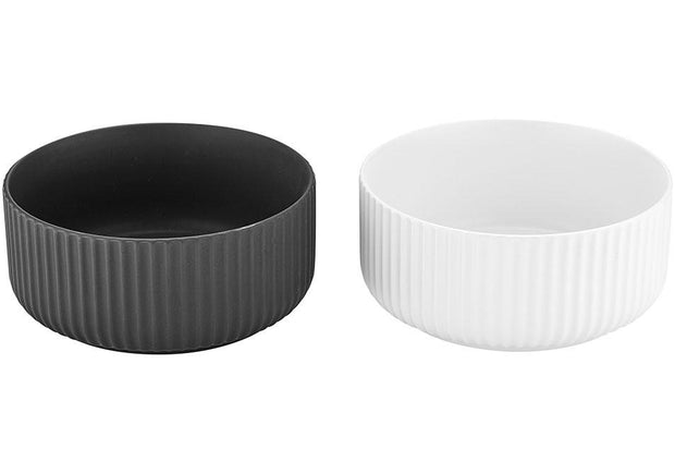 Ladelle Linear Ribbed 16cm 2 Piece Bowl Set