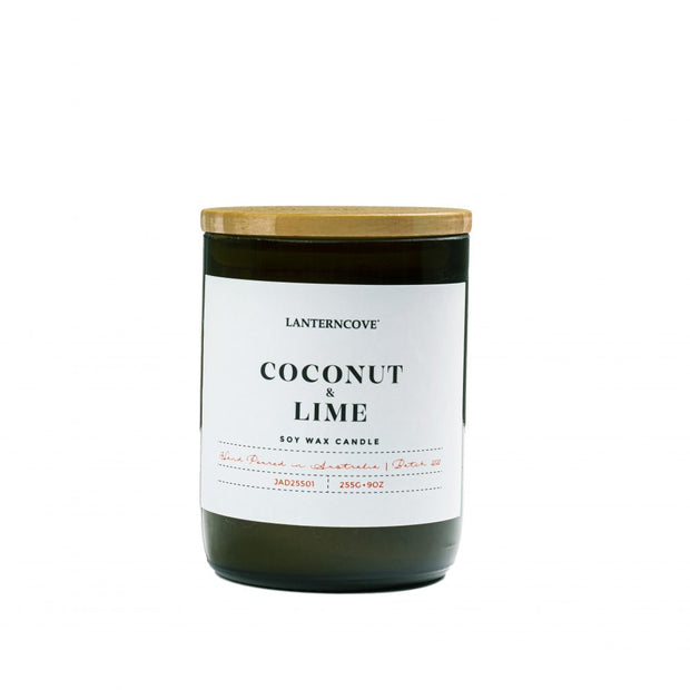 Jade Soy Wax Candle - Coconut & Lime